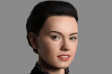 Daisy Ridley Photoshop Digital Portrait by DrawingTheFamous