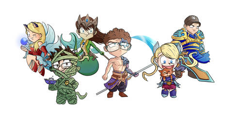 CG group as League of Legends characters