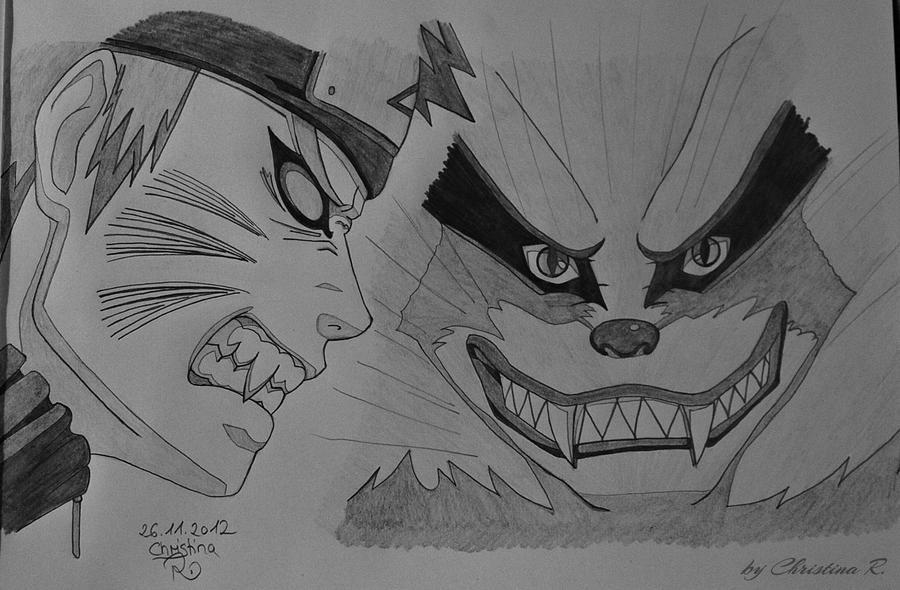 Naruto and Kurama by Monstacookie