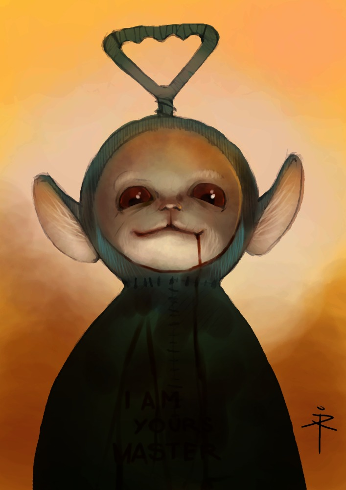 160608 - terrible teletubbie by *600v