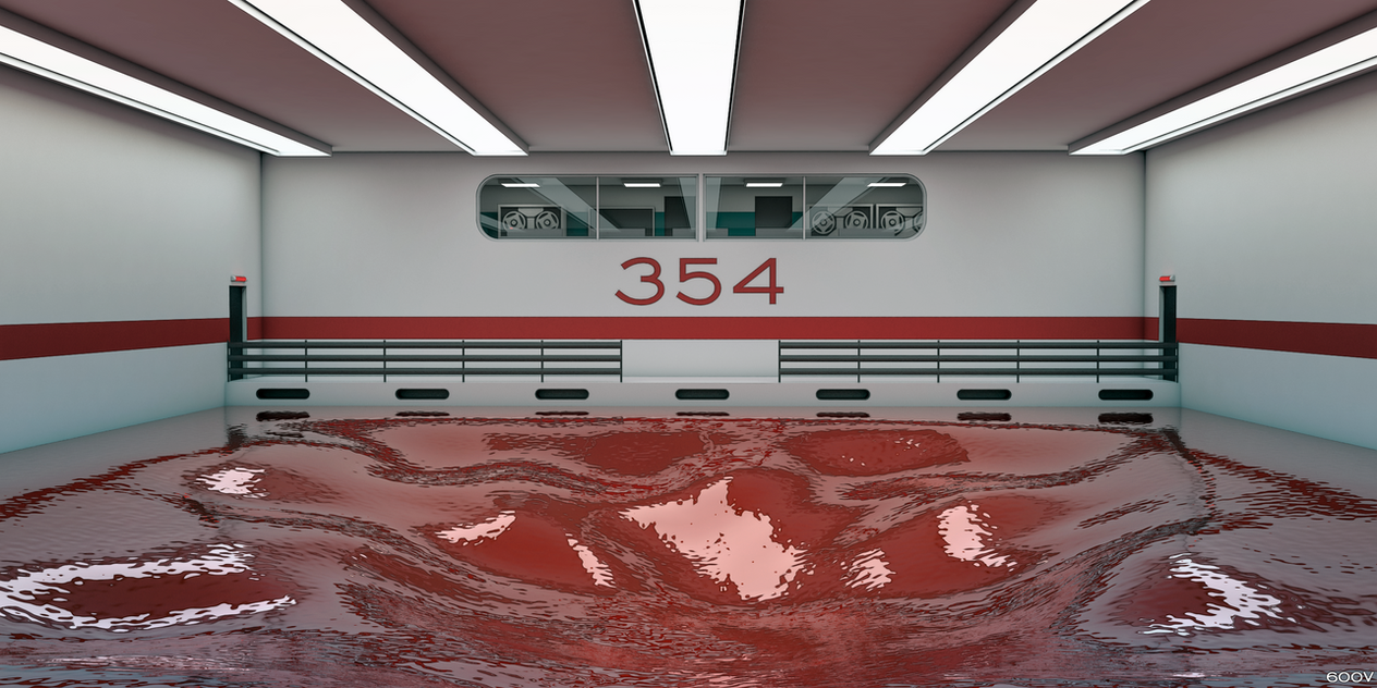 SCP-354 test sample containment room by 600v