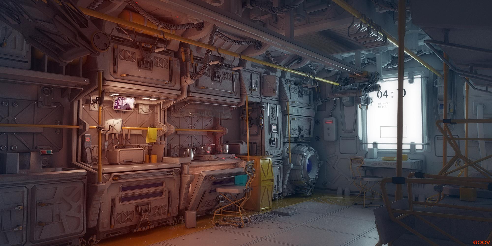 Kitchen zone by 600v on deviantart for Kitchen set environment