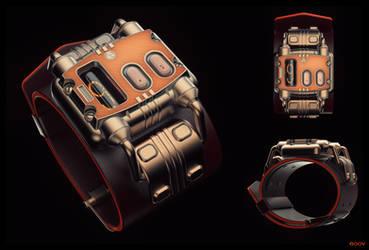 Nuclear-Powered Nixie Wristwatch