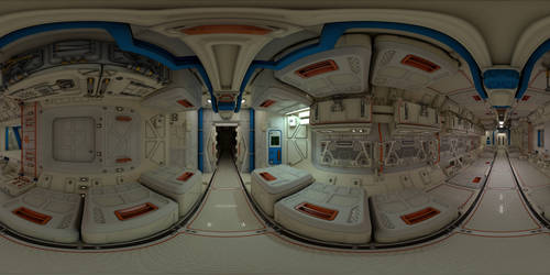Spaceship Interior 360 Panorama (Facebook link) by 600v