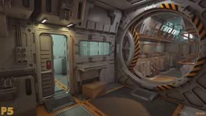 Space Base Corridor (+360 Panorama link)
