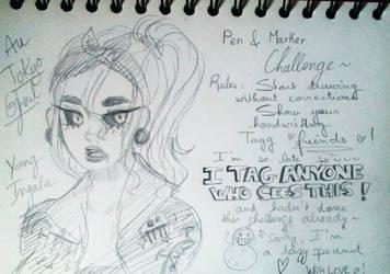 Pen + Marker Challenge ! by peanutin