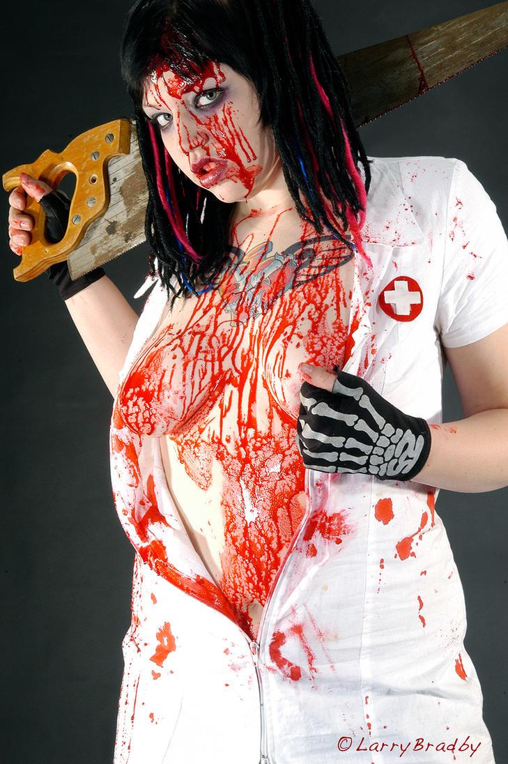Bloody Nurse by larrybradbyphoto