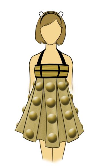 Dalek Dress Design by FangsAndNeedles
