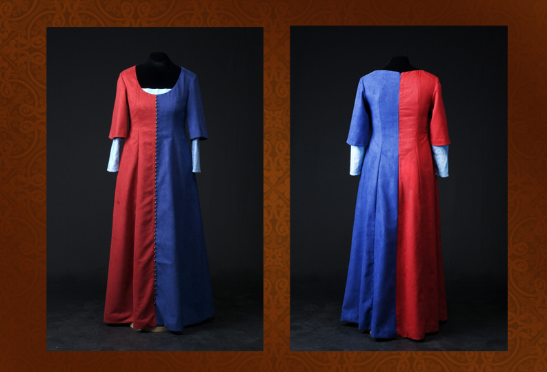 Blue/Red Medieval Dress by FangsAndNeedles