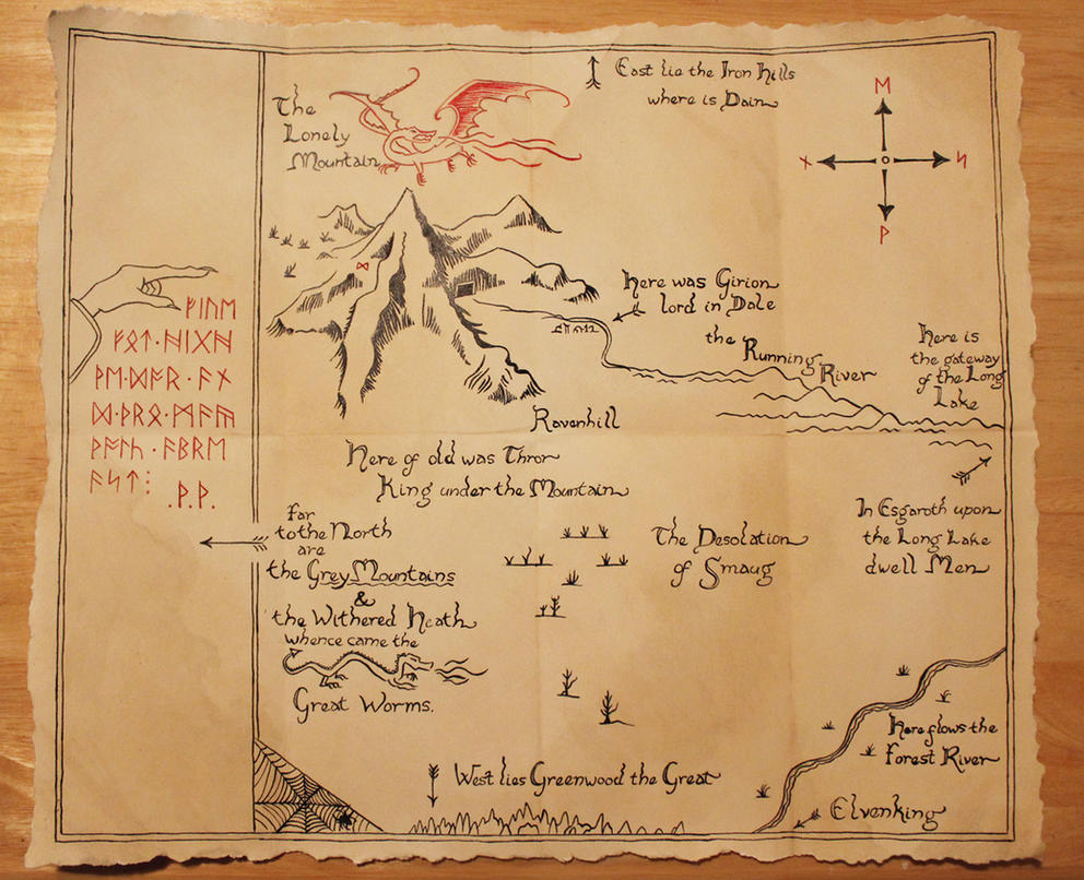 Thorin's Map by FangsAndNeedles