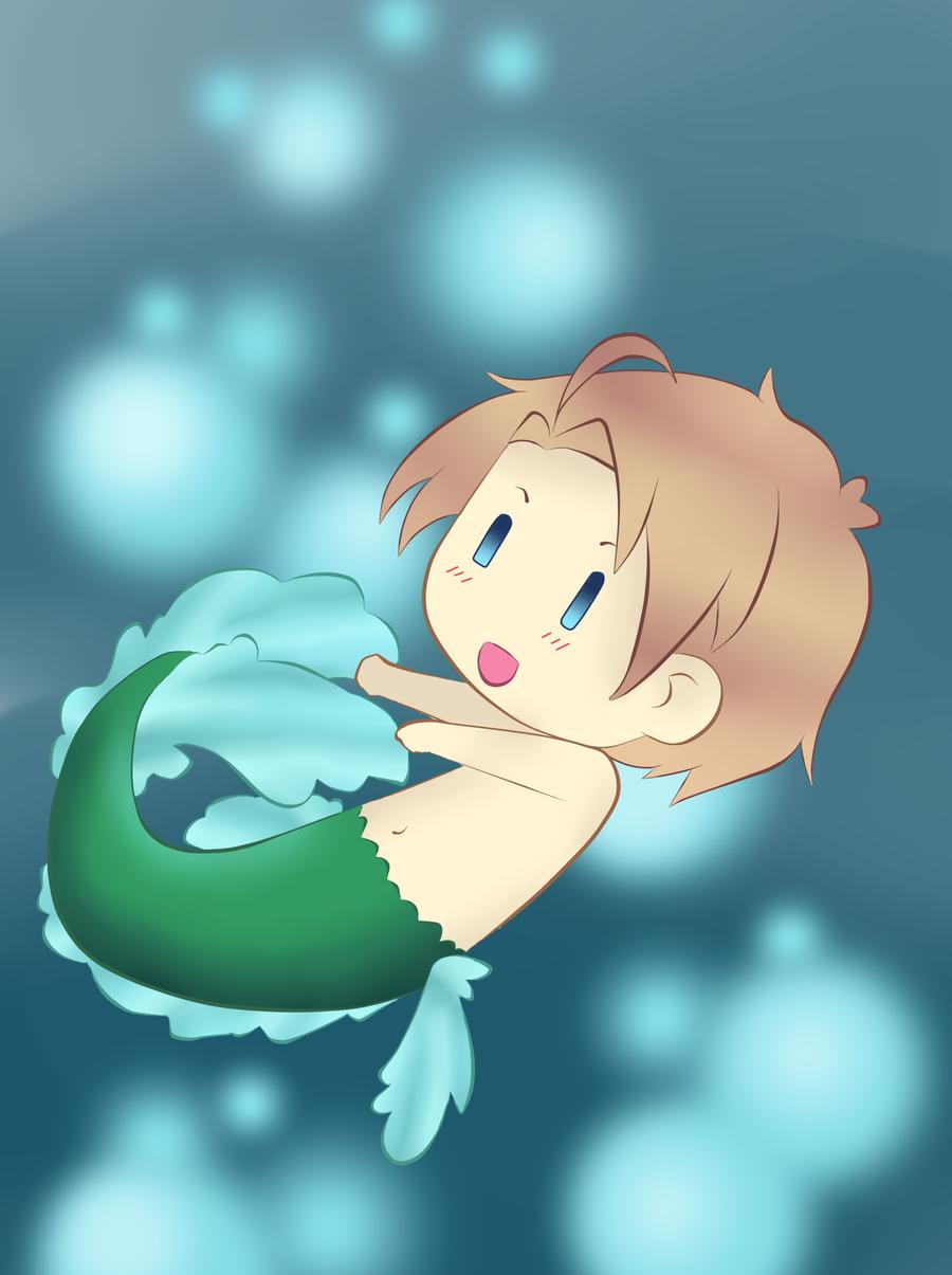 Chibi Mermaid-America By Wurufiihoshii On DeviantArt
