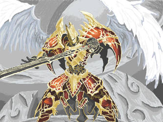 Winged Knight by OldMoose
