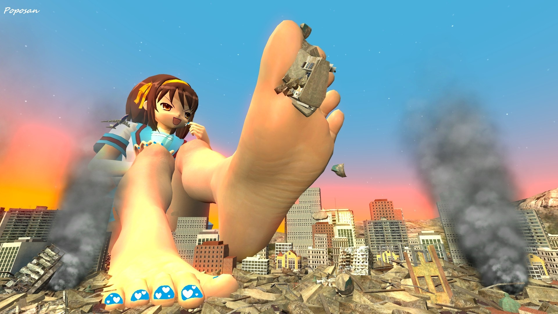 Giantess naked sexual image