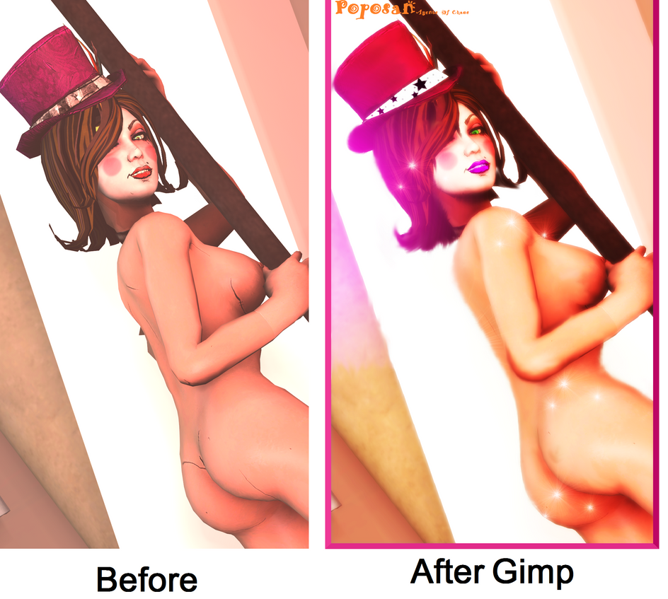 Before and After Moxxi by Poposan