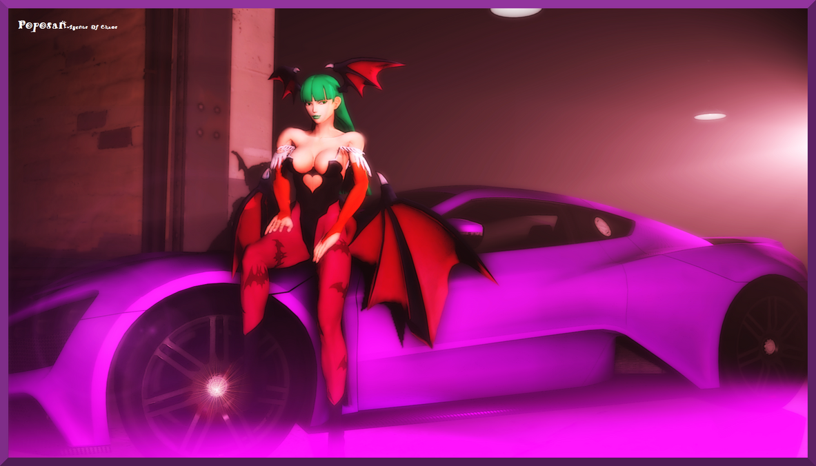 Angel Rides: Morrigan by Poposan