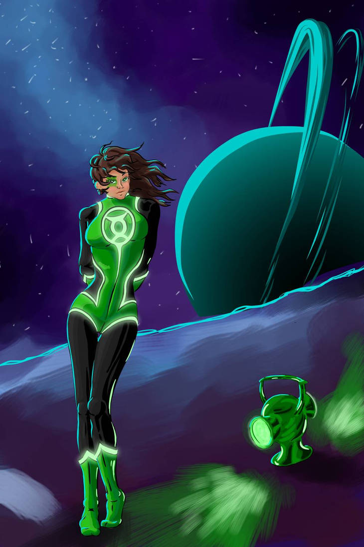 Green Lantern Jessica Cruz  by Bubble-0f-d00m