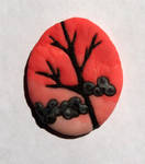 Tree Silhoutte Cabochon by Kyle-Lefort