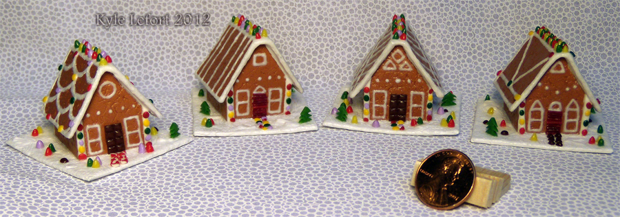 The 2012 Mini Gingerbread House Series by Kyle-Lefort