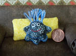 Miniature Blue 3 Legged Plush Friend