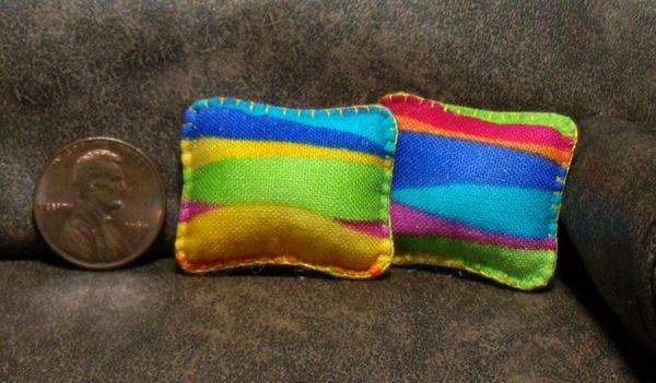 Mini Rainbow Splash Rectangle Throw Pillows by Kyle-Lefort