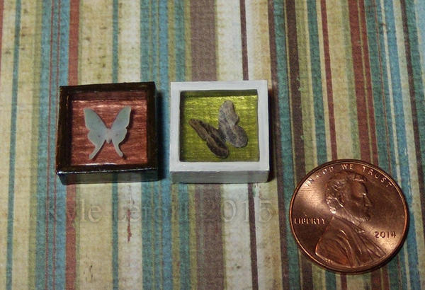 Mini Luna Moth and Owl Eye Colorful Riker Mounts by Kyle-Lefort