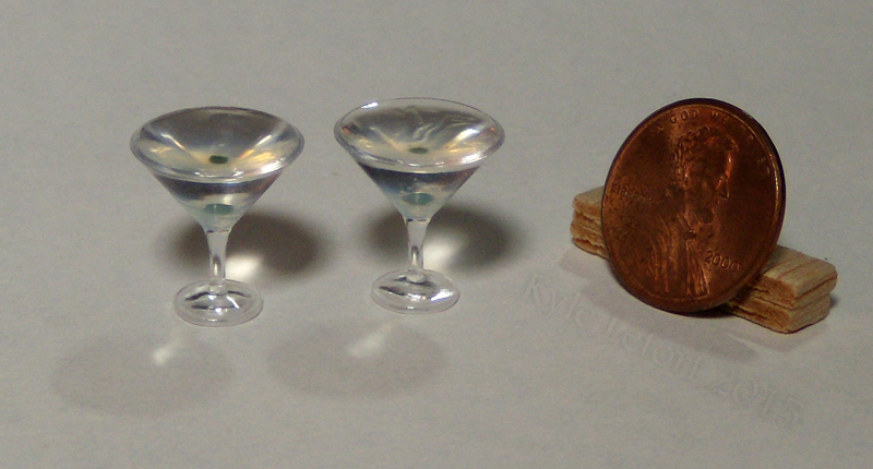 Mini One Olive Martinis by Kyle-Lefort