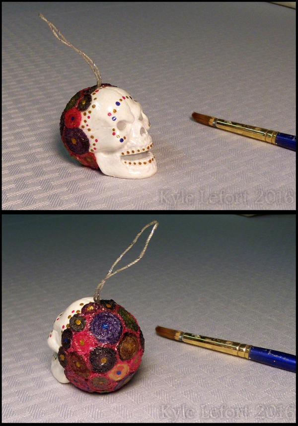Fancy Skull 2016 - Red Rainbow, Hanging by Kyle-Lefort