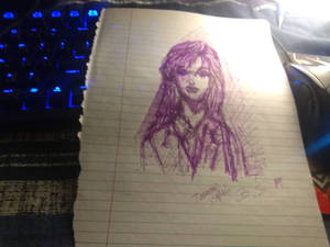 Purple animez lady