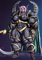 Commission:  Maiev Buffsong enters the Nexus! by Sammy-Upvotes
