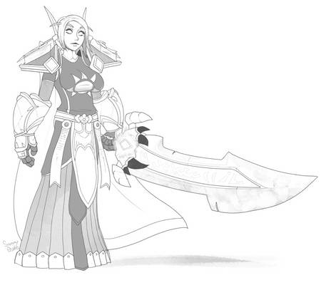 Tine Elf Big Sword