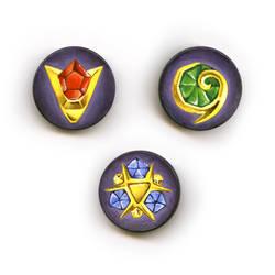 Ocarina of Time Spiritual Stone Magnets
