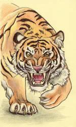 Sticky Note Tiger