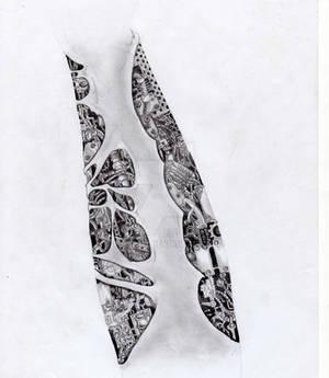 Arm tattoo - Biomech sleeve - outside