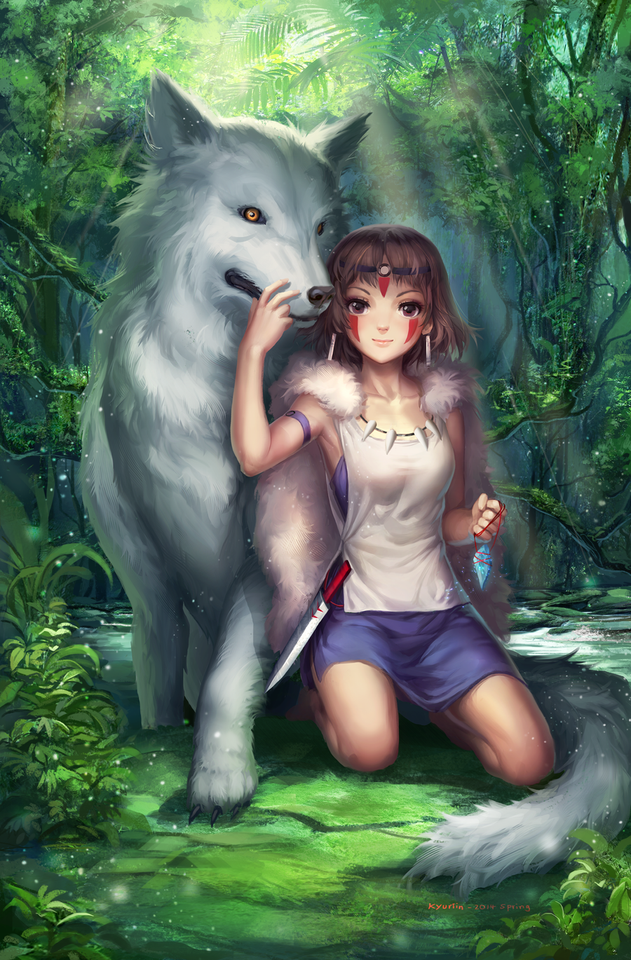 Princess Mononoke by Kyuriin