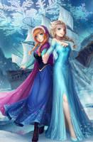 Elsa Anna by Kyuriin