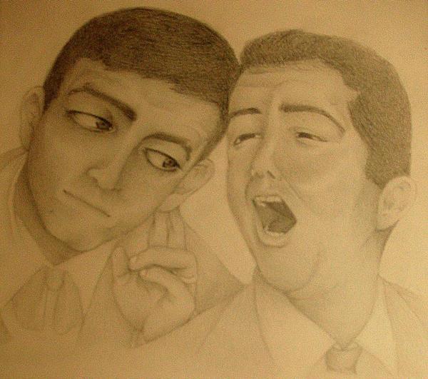 Dean and Jerry 'The Stooge' by dwightyoakamfan