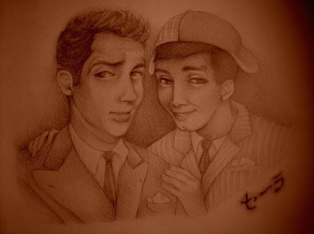 Dean and Jerry drawing by dwightyoakamfan