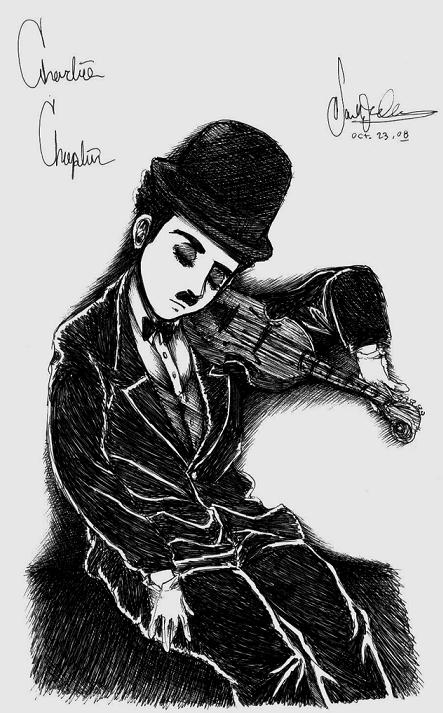 Chaplin's Violin by dwightyoakamfan