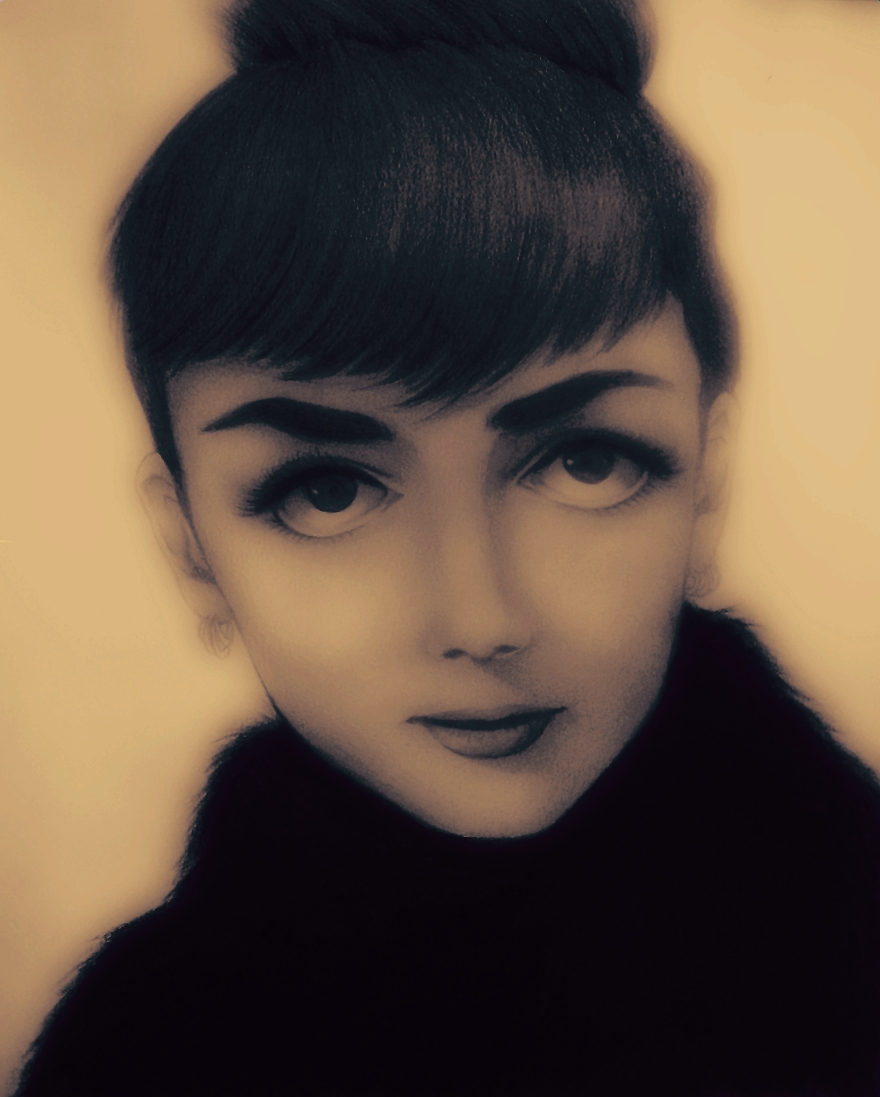 Audrey Hepburn by dwightyoakamfan