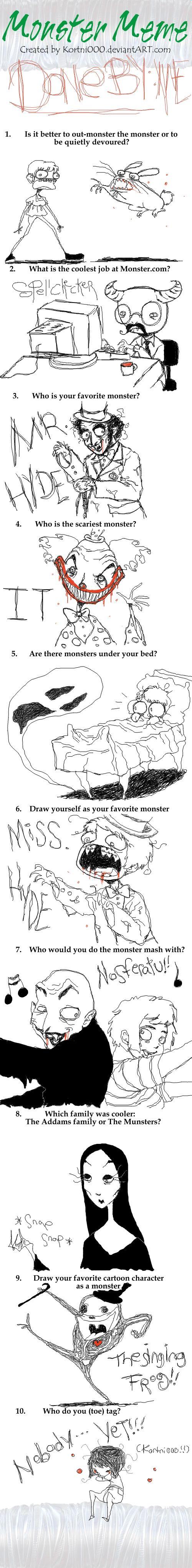 My Monster Meme by dwightyoakamfan