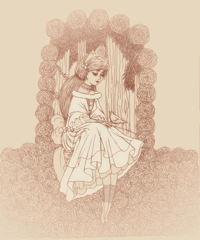 princesse.dans.la.robe.blanche by dwightyoakamfan