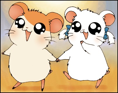 Hamtaro and Bijou by dwightyoakamfan