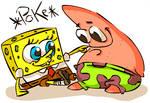 Spongebob and Patrick .Poke.