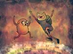 Jake and Finn .:. The Rainbow