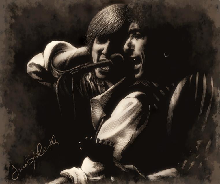 Tom Petty and Bob Dylan by dwightyoakamfan