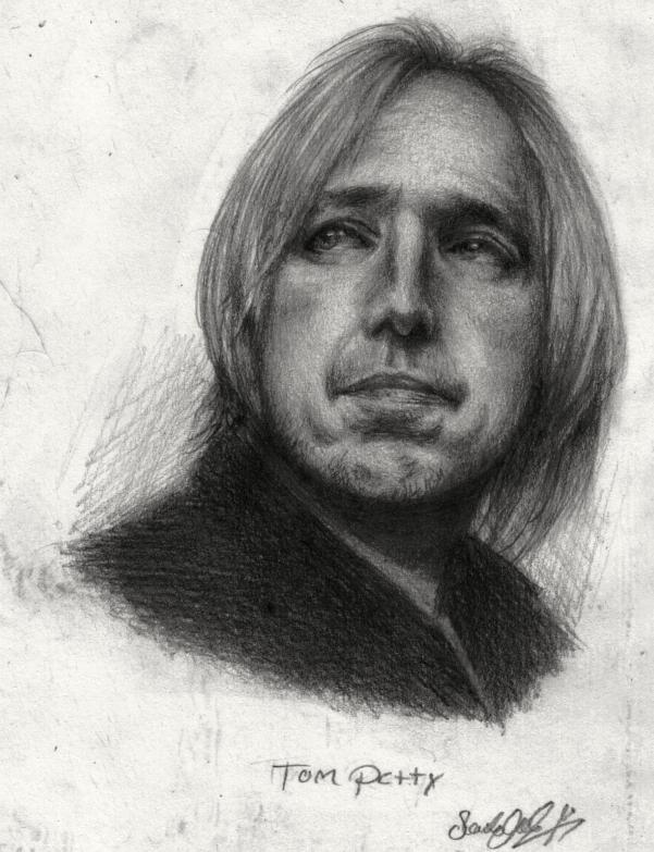 tom petty echo. Tom Petty in Pencil 1999 by
