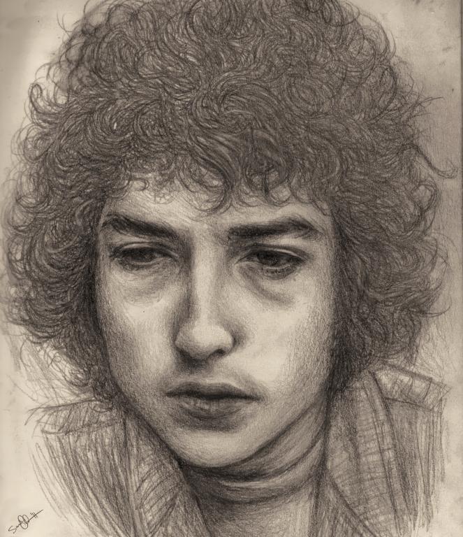 Bob Dylan in Pencil-Graphite by dwightyoakamfan