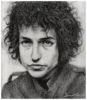 Bob Dylan in Charcoal by dwightyoakamfan