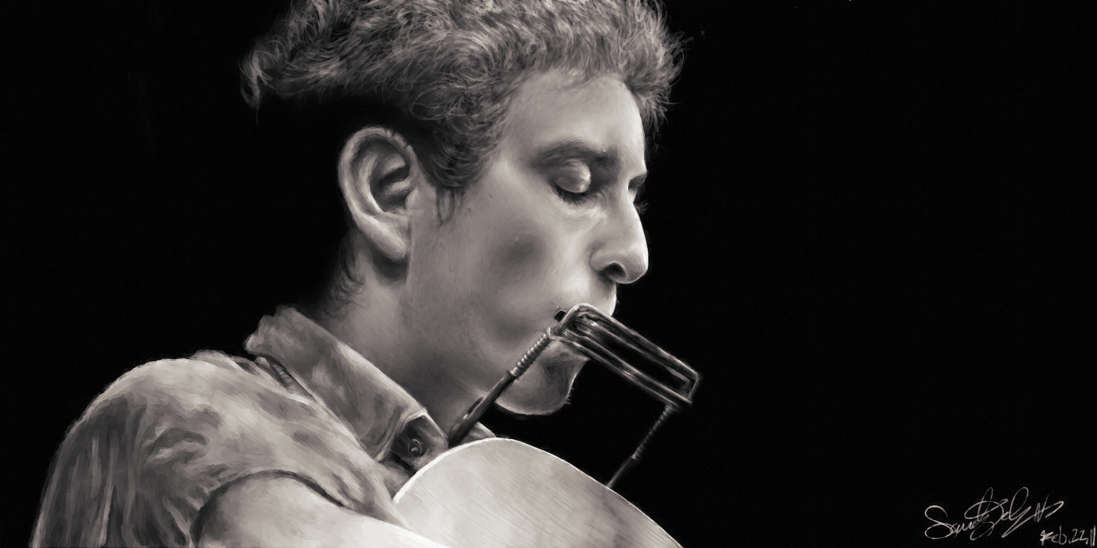 Bob Dylan Portrait by dwightyoakamfan