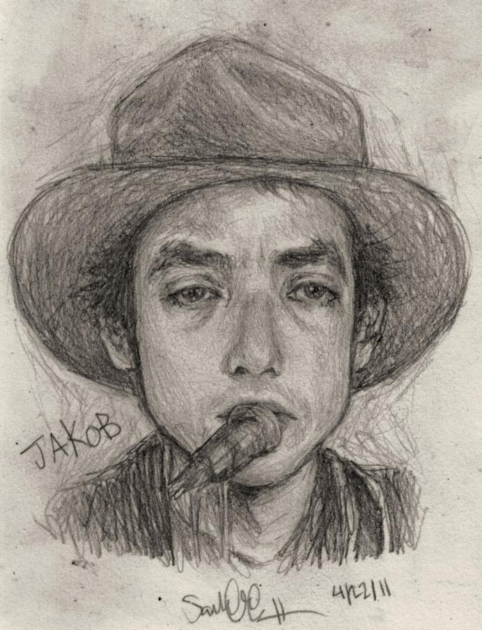 Jakob Dylan Sketch by dwightyoakamfan